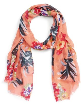 Women's Sole Society Tropical Print Scarf $29.95 thestylecure.com