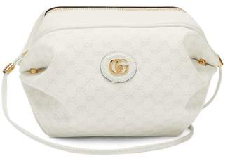 Gucci New Candy Gg Supreme Canvas Cross Body Bag - Womens - White