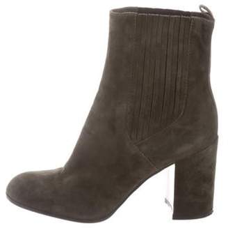 Gianvito Rossi Suede Ankle Boots green Suede Ankle Boots