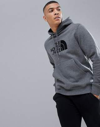 The North Face Drew Peak Pullover Hoodie In Gray Heather