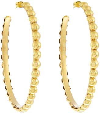 SYLVIA TOLEDANO Tribal large gold-plated earrings