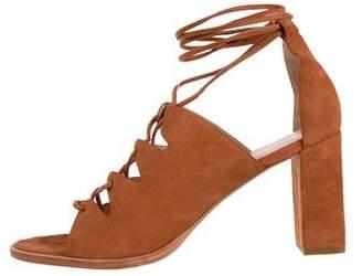 Loeffler Randall Suede Wrap-Around Sandals