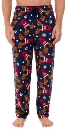 Fruit of the Loom Men's Big Size Holiday Print Fleece Sleep Pant