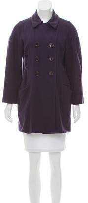 Miu Miu Double-Breasted Wool Coat