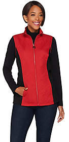 Dennis Basso Lightweight Embroidered Nylon Vest