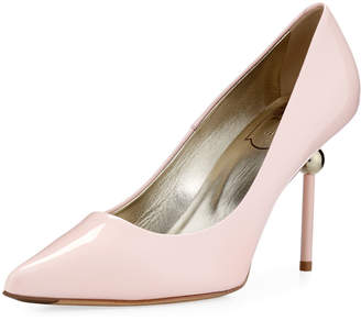 Roger Vivier Patent Leather Pointed Pump, Blush