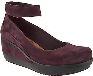 Clarks Artisan Leather Wedges w/ Ankle Strap-Wynnmere Fox