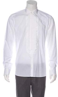Neil Barrett Point Collar Tuxedo Shirt