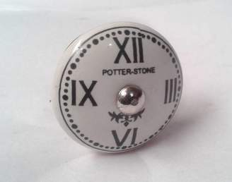 French Grey Interiors Clock Face Cupboard Knob