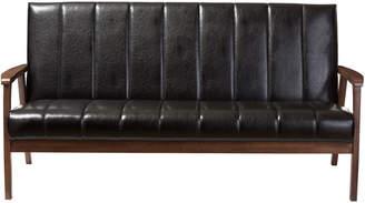 Nikko Baxton Studios Mid-Century Wooden 3-Seater Sofa