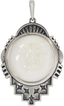 American West Moon Face Mother of Pearl Sterling Silver Enhancer