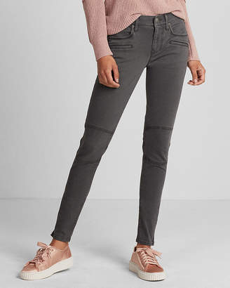 Express Mid Rise Moto Twill Ankle Leggings