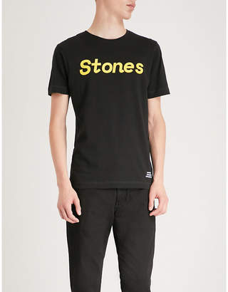 THE ROLLING STONES Logo-print cotton-jersey T-shirt