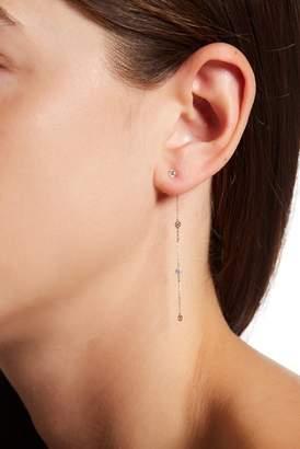 Candela 14K Yellow Gold CZ Chain Dangle Earrings