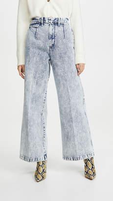 Toga Pulla Bleach Denim Wide Pants