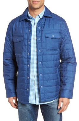 Men's Vineyard Vines Quilted Shirt Jacket $145 thestylecure.com