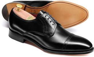 Charles Tyrwhitt Black Made In England Derby Toe Cap Shoes Size 11.5