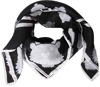 Kenzo Tiger Print Cotton & Silk Square Scarf