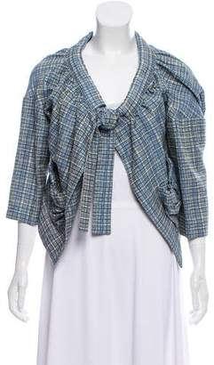 Marni Plaid Three-Quarter Sleeve Jacket