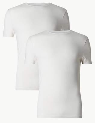 """Marks and Spencer 2 Pack Heatgenâ""""¢ Thermal Short Sleeve Vests"""