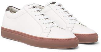Brunello Cucinelli Apollo Full-Grain Leather Sneakers - White