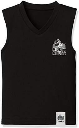 Disney (ディズニー) - [ディズニー] ディズニーミッキーブラックランニングシャツ 371100866 ボーイズ ブラック 日本 130 (日本サイズ130 相当)