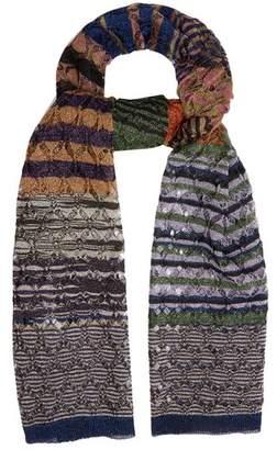 Missoni Diamond Laddered Knitted Scarf - Womens - Multi
