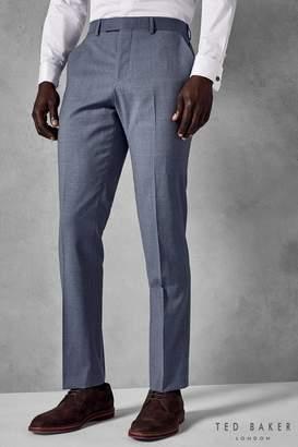 Next Mens Ted Baker Blue Teneto Sterling Plain Suit Trouser