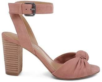 Splendid Women's Bea Suede Ankle Strap High Block Heel Sandals