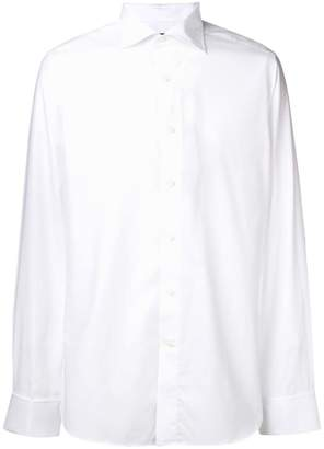 Canali plain formal shirt