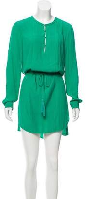 Diane von Furstenberg Tassel Tie Long Sleeve Dress