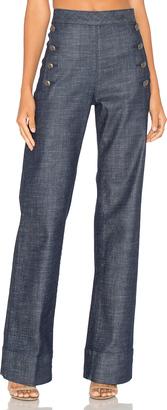 Tommy Hilfiger TOMMY x GIGI Denim Sailor Pants $175 thestylecure.com