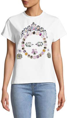 Bat Gio By Giovanna Battaglia Engelbert Jeweled Face T-Shirt, White