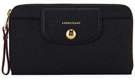 Longchamp Le Pliage Heritage Leather Zip Wallet