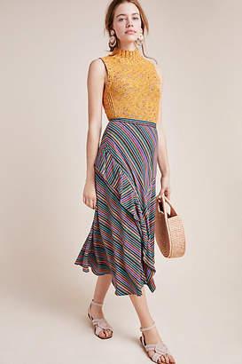 Maeve Eliora Striped Midi Skirt
