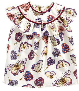 Gucci Butterflies & Flowers Print Blouse