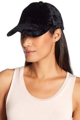 BCBGMAXAZRIA Velvet Lace-Up Baseball Cap