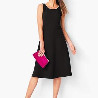 Talbots Crepe & Pearl Fit & Flare Dress