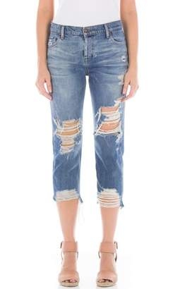 Fidelity Dee Dee Ripped Crop Jeans