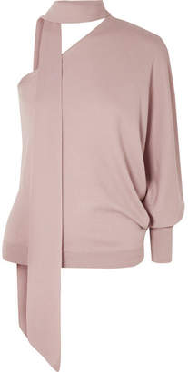 Ralph & Russo - Off-the-shoulder Cashmere Sweater - Blush