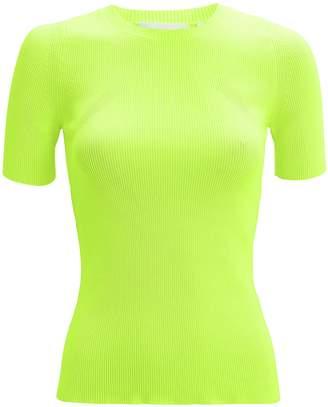 Helmut Lang Neon Knit Top