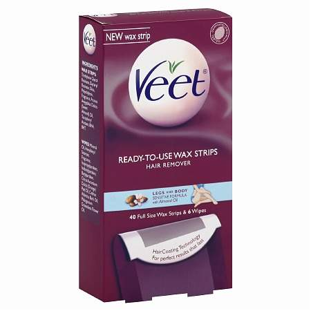 Veet Ready-to-Use Wax Strips Hair Remover Kit