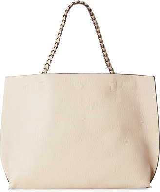 Street Level Ivory & Tan Reversible Tote