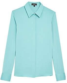 Theory Women's Core Silk Button-Down Shirt