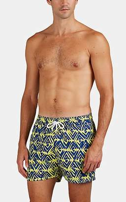Trunks Frescobol Carioca Men's Angra Diamond-Print Swim Yellow