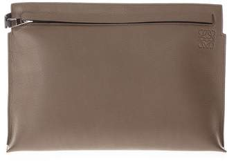 Loewe Two Tone Pouch In Leather