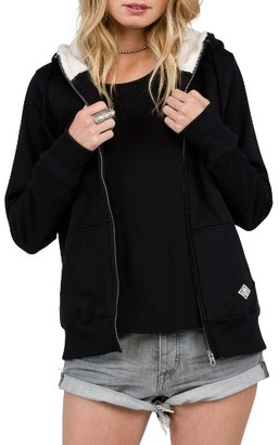 Women's Volcom Lived In Faux Shearling Lined Hoodie $59.50 thestylecure.com