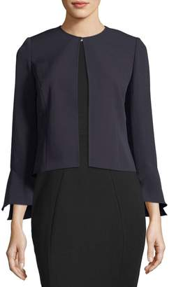 Tahari ASL Bell-Sleeve Stretch-Crepe Topper Jacket