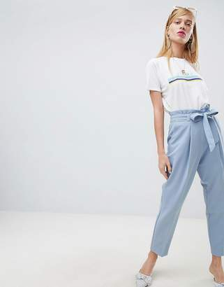 New Look Tie Waist Tapered Pant