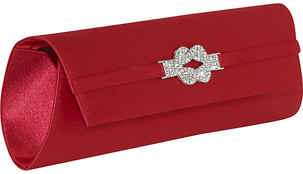 Magid Jewel Knot Satin Clutch